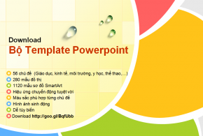 Theme PowerPoint đẹp long lanh